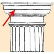 Капитель из полиуретана под колонну фото