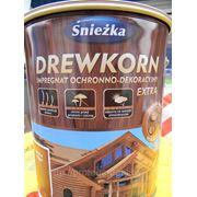 Sniezka Drewkorn Extra (Снежка Древкорн Экстра) - орех темный. 1 банка = 9л. фото