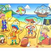 Рамка-вкладка Дети пираты фото