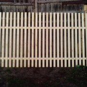 Забор, секция, пролёт из штакетника фото