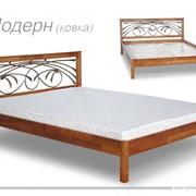 """Кровать двуспальная с элементом ковки """"Модерн"""" фото"""