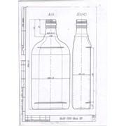 Бутылка стеклянная Ви24-500-Воск (0,5 л) фото