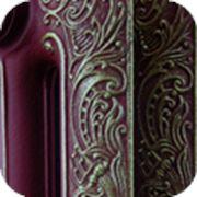Дизайн радиаторы в бордовом цвете рисунок серебро фото