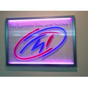 Логотип компании с LED подсветкой фото