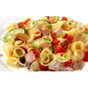 """Салат """"Овощной с мясом и макаронами"""" (0,120) фото"""