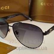 Мужские солнцезащитные очки Gucci 100005 черные фото