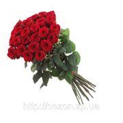 Букет 25 красных роз фото