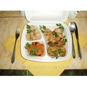 Шашлык куриный с овощным ассорти фото