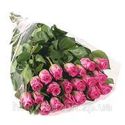 Букет 21 розовых роз фото