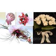 Свадебные букеты из конфет Rafaelo, Ferero Roshe и с живыми цветами фото
