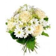 Букет из белых роз, доставка цветов фото