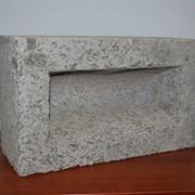 Арболитовый блок пустотелый фото
