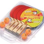 Набор Atemi Quattro (4 ракетки, 4 мяча) фото