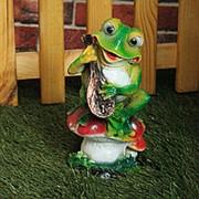 Фигура Лягушка с домрой фото