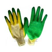 Перчатки Х/Б Латекс, двойной облив (10/100) фото