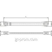 Ключ накидной текстурный Е-профиль Е7 х Е11 AWT-EAF0711 фото