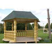 Столбы деревянные, колонны фото