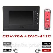 Commax CDV-70A black + DVC-411C цветной домофон с панелью вызова фото