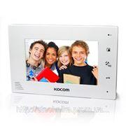 KOCOM KCV-A374SD mono white цветной домофон с памятью фото