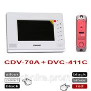 Commax CDV-70A white + DVC-411C цветной домофон с панелью вызова фото