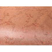 Ткань джинсовая с вышивкой и паетками (шоколад)