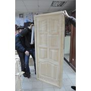 Двери натуральные деревянные сосновые в Донецке фото