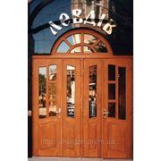 Двері вхідні, двері дерев'яні на замовлення (модель 1)