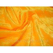 Cтрейч-бархат крэш солнечно-желтый фото
