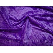 Cтрейч-бархат крэш ярко-фиолетовый фото
