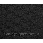 Стрейч-гипюр черный фото