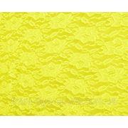 Стрейч-гипюр желтый фото