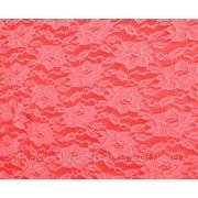 Стрейч-гипюр коралловый