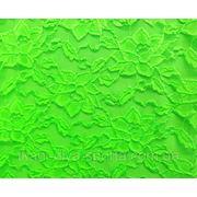 Стрейч-гипюр салатовый fluo фото