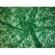 Стрейч-гипюр зеленый фото
