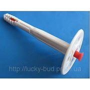 Дюбель-зонтик для крепления теплоизоляции L10х120mm D 70mm с УДАРОПРОЧНЫМ пластиковым гвоздем фото