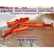 Дюбель WAVE 5х40mm потай быстрого монтажа с ударным шурупом - ISO 9001 фото