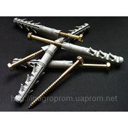 Дюбель ZUBR 14х100 mm с шурупом-глухарём М8 (7х103mm),усиленный 3 парами стопорных крыльев - ISO 9001, УКРСЕПРО фото