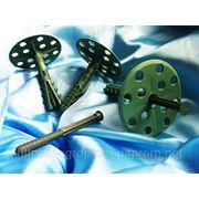 Дюбель для пенопласта, утеплителей и теплоизоляции 10х70 mm от WAVE c диском 50 mm серии ECONOM с ударопрочным пластиковым воздём: ISO 9001 фото