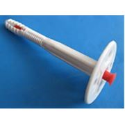 Дюбель-зонтик для крепления теплоизоляции L10х180mm D 50mm с УДАРОПРОЧНЫМ пластиковым гвоздем фото