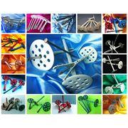 Дюбель зонтик тарельчатый для пенопласта, минеральной ваты, теплоизоляции, утеплителей, фасадов 70-220 прижимной диск 70, 60 и 50 mm три вида гвоздей фото