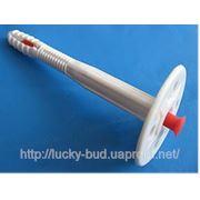 Дюбель-зонтик для крепления теплоизоляции L10х100mm D 60mm с УДАРОПРОЧНЫМ пластиковым гвоздем фото