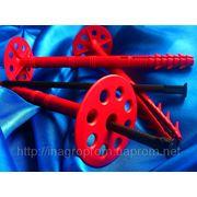 Дюбель для пенопласта, утеплителей и теплоизоляции 10х160 mm от WAVE c диском 50 mm серии ECONOM с ударопрочным пластиковым воздём: ISO 9001 фото