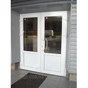 Теплі двостулкові двері в приміщення фото