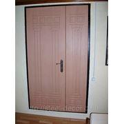 Двустворчатые двери с отделкой МДФ