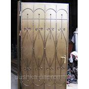 Двери металлические с элементами ковки в Харькове.