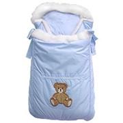 Конверт-одеяло Лапушки голубой фото