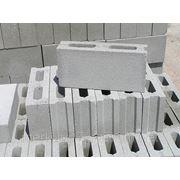 Пустотный бетонный блок Стоун Тэк серый 39х19х10 фото