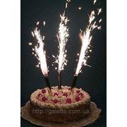 Свечи тортовые феерверк 6шт 12см.(код 01006) фото