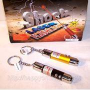 Прикол — шокер лазер-фонарик, электрошокер — шутка (shock laser flashlight) фото