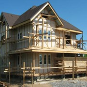 Строительство загородного дома фото